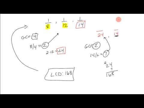 LCD 3 Fractions - Using 2 Fraction GCF Method