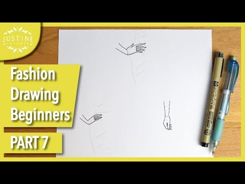 How to draw hands: 3 different poses TUTORIAL | Fashion drawing for beginners #7 | Justine Leconte