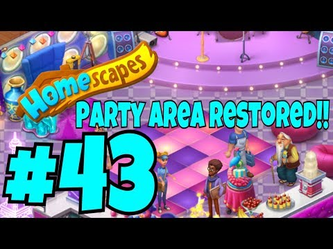HOMESCAPES Gameplay Story Walkthrough Part #43 | Party Room Restored Day 6