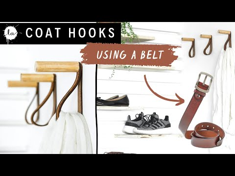 DIY Coat Rack - Wooden hook - Entryway ideas- Organization -