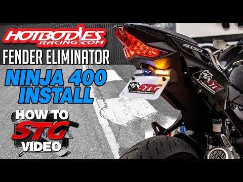 Hotbodies 2018 Kawasaki Ninja 400 Fender Eliminator Install | Sportbike Track Gear