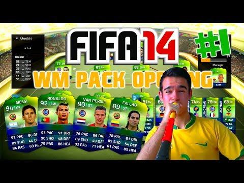 FIFA 14 Ultimate Team : WM Pack Opening #1 [FACECAM] - GEILER MODUS !! HD