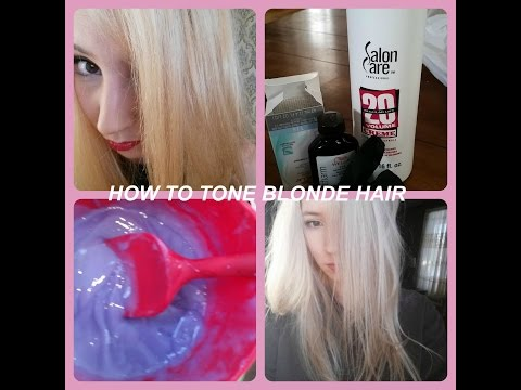 How to tone: Brassy yellow hair to white blonde: DIY | ATTIC ANATOMY