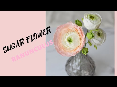 How to make sugar flower ranunculus with ease