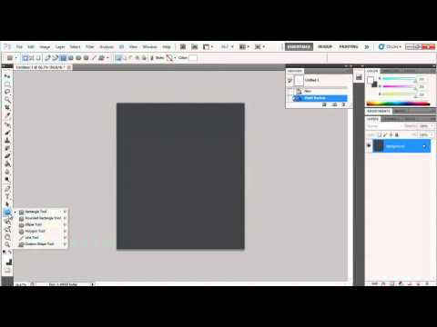 How to Draw a Circle in Photoshop CS3 : Photoshop Basics