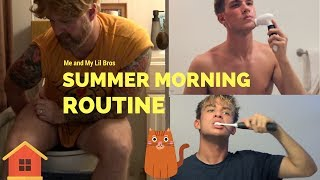 Famous Internet Rhodes Bros Summer Morning Routine, Secret Brother Revealed! (SPOOF)