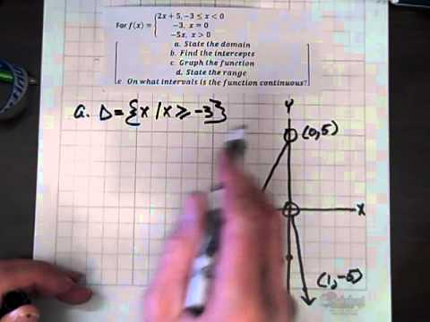 Analyzing a Piecewise Function