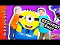 Worlds Biggest Minion Egg Surprise Play Doh Giant Toys Insid