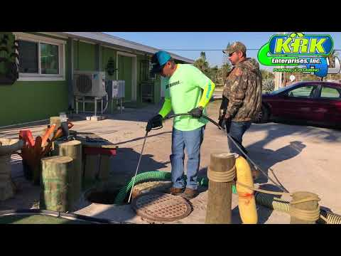 KRK Pumping and Plumbing Performs a Grease Trap Pump Out