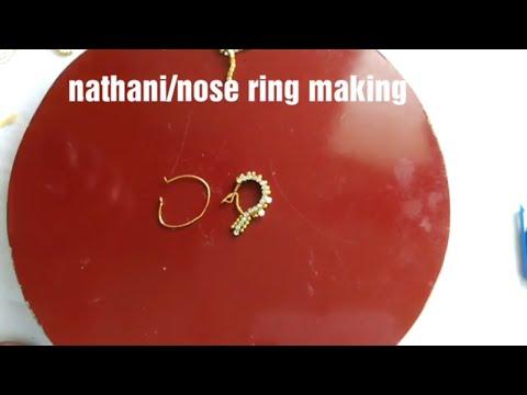 How to make Nathani/nattu/nose ring at home
