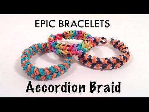 Accordion Braid Bracelet Tutorial
