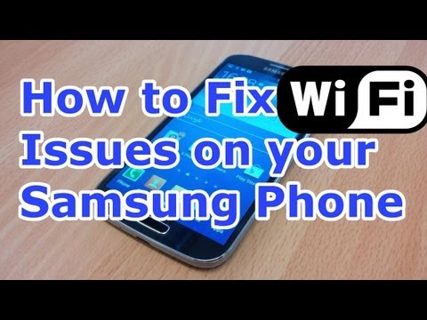 How to Fix Android Wifi Problems - Samsung Galaxy S4 - All Samsung phones [HD]