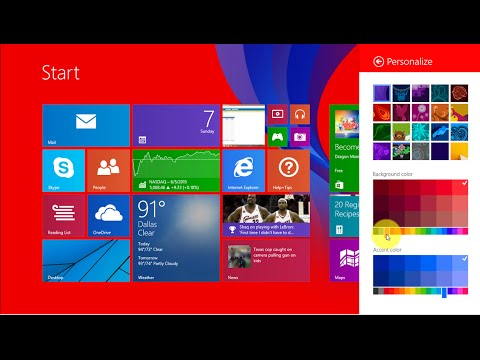How to Change the Color of Your Start Menu in Windows 8/8.1!