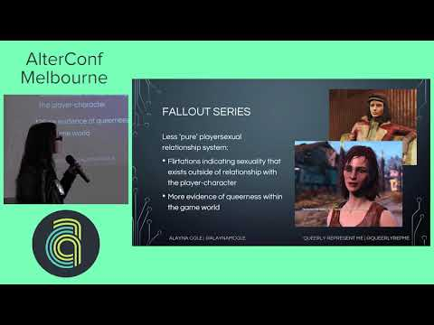 AlterConf Melbourne 2017: Playersexuality and Plurisexuality in Videogames by Alayna Cole