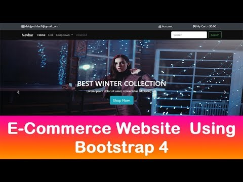 Bootstrap 4 website built from scratch in 1 hour 2018- eCommerce website with Bootstrap 4