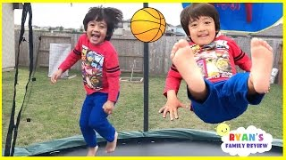 Kids First Time Surprise Giant Trampoline Family Fun Playtime with Ryan