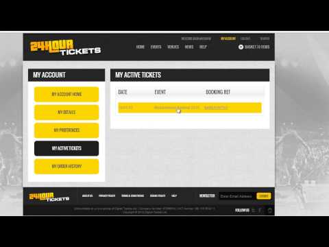 How to change ticket holder name on 24hourtickets.co.uk
