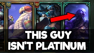 Do They Deserve it? Placing a Bronze Player in a Platinum Solo Q Game