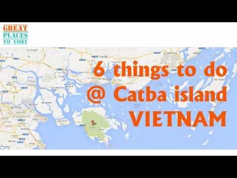 Cat ba island Vietnam, part of Ha long bay  - 6 things to do