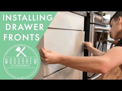 How To Install Cabinet Drawer Fronts With Just Tape   Woodbrew