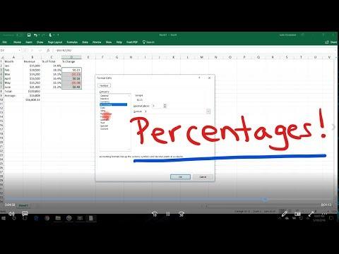 Excel Tutorial - Calculating Percentages