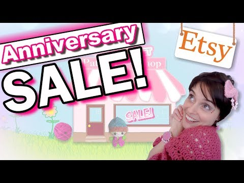 Our Etsy Shop Anniversary Sale Starts Today!!!