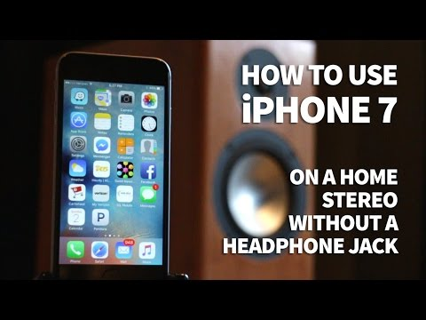 How to Use iPhone 7 on Home Stereo Aux with No Headphone Jack - Listen to Music on a Receiver
