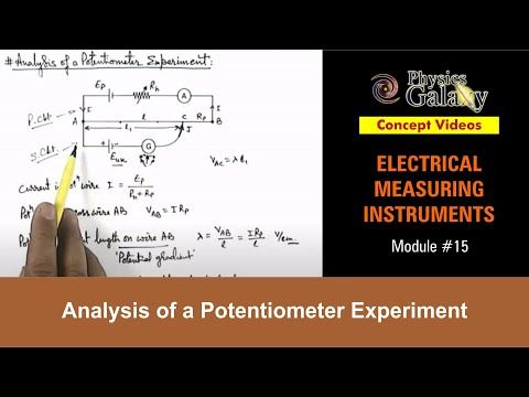 15. Physics | Electrical Measurements | Analysis of a Potentiometer Experiment | by Ashish Arora