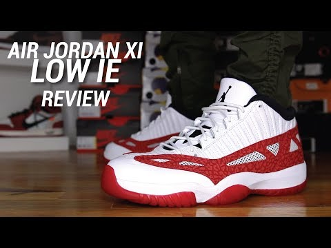 AIR JORDAN 11 LOW IE UNIVERSITY RED REVIEW