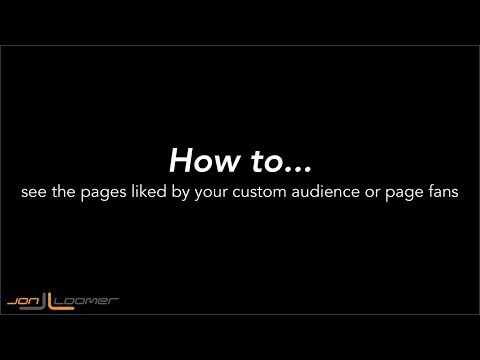 How to View Pages Liked By Your Facebook Ad Audiences (Quick, Silent Tutorial)