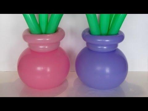 Горшочек для цветка из шаров / Flower pot balloons (Subtitles)