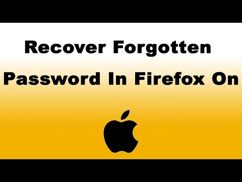 How to Recover Forgotten Password in Firefox on Mac