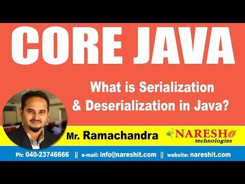 Core Java Tutorial | What is Serialization and Deserialization in Java ? | Mr.Ramachander