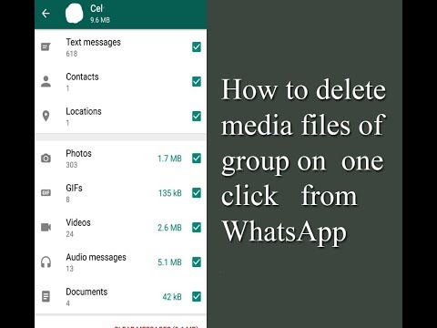 How to delete media files of a Whatsapp group in one click