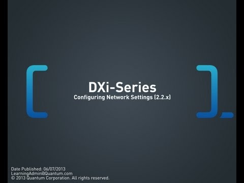 DXi-Series: Configuring Network Settings (2.2.x)