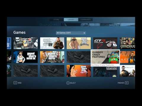 Steam's Big Picture Mode Beta Quick Test Drive