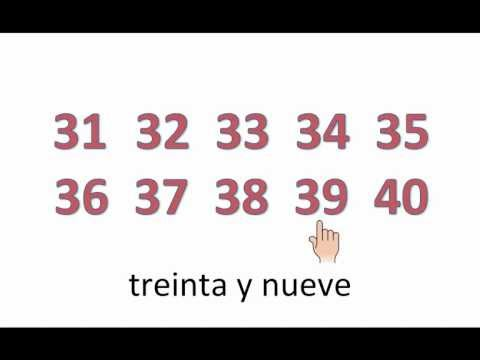 Spanish Numbers From 1 -100