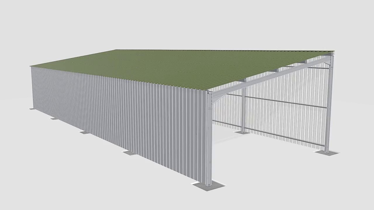 Sidewalls assembly   Montage des bardages long pans   Maison de l'Éleveur