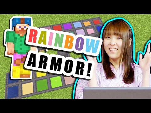 How to Make RAINBOW Colored Armor! - Minecraft Pocket Edition 0.14.0