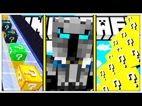 MINECRAFT DELTA LUCKY BLOCK MICRO GAMES - YOUTUBER EDITION 1V1V1
