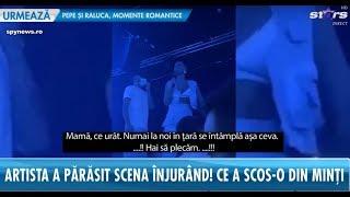 Scandal monstru în timpul unui concert al Antoniei! Artista a părăsit scena înjurând!