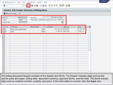 Demo 5.8 Process Billing for a Sales Order