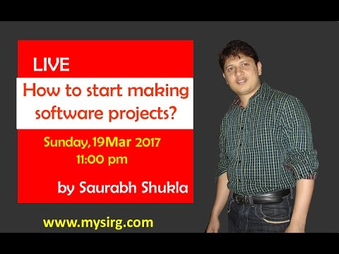 How to start making software projects? | LIVE Seminar