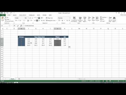 Error bars in graphs using Microsoft Excel for PC v2013