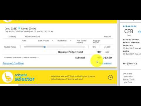 Online Booking in Cebu Pacific - Guide 2017 to 2018