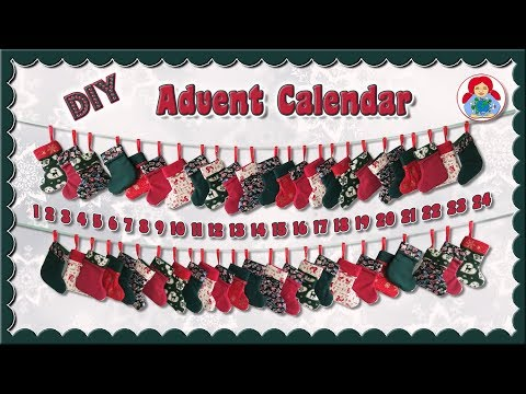 DIY | Advent Calendar with 24 mini X-mas Stockings • Sami Dolls Tutorials