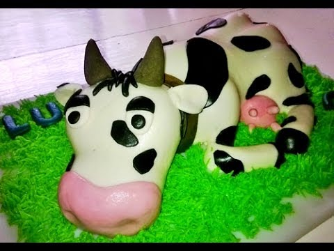 How to make a cow cake