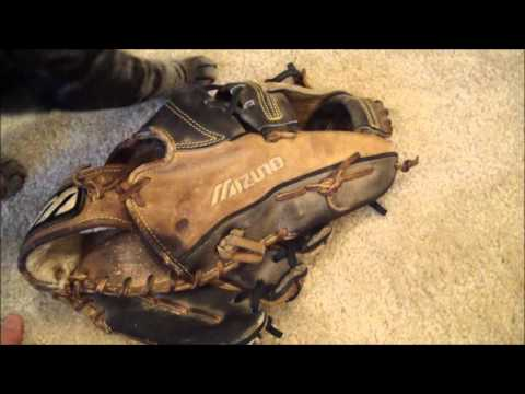 Mizuno Baseball Glove - Before and After Glove Relace
