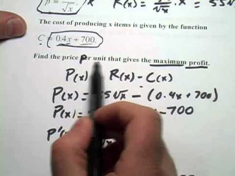 Calculus: Applied Problems in Business with Differentiation
