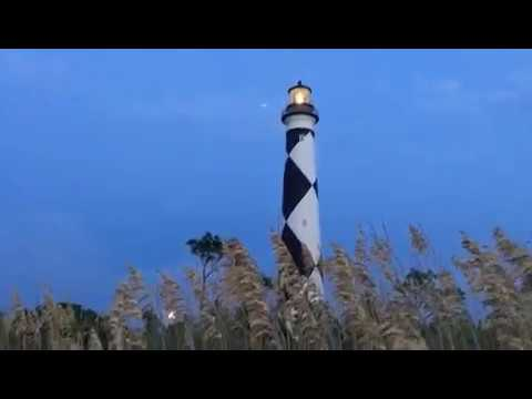 Harvest Moon at Cape Lookout Lighthouse